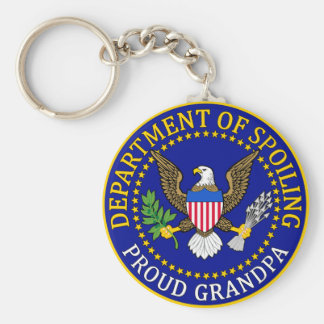 Department of Spoiling - Proud Grandpa Keychain