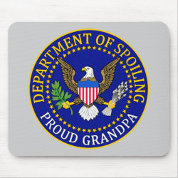 Mousepad with Official Grandpa Seal design
