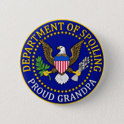 Round Button with Official Grandpa Seal design