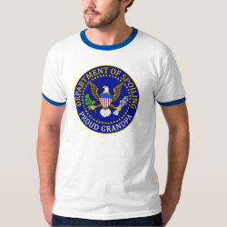 Men's Basic Ringer T-Shirt with Official Grandpa Seal design