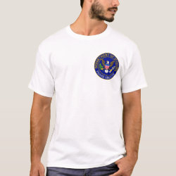 Men's Basic T-Shirt with Official Grandpa Seal design