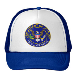 Trucker Hat with Official Grandpa Seal design