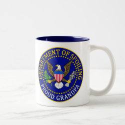 Two-Tone Mug with Official Grandpa Seal design