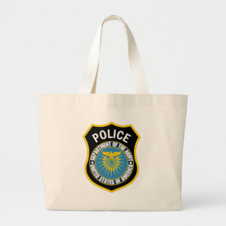 Department Of The Army - Police Large Tote Bag