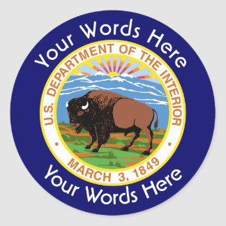 Department of the Interior Custom Sticker