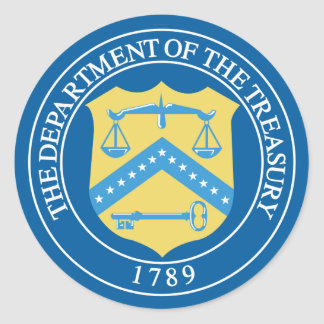 Department of the Treasury Round Stickers