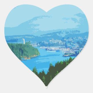 Departure Bay, Nanaimo, BC Heart Sticker