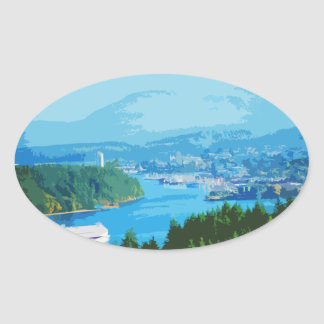 Departure Bay, Nanaimo, BC Oval Sticker