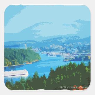 Departure Bay, Nanaimo, BC Square Sticker