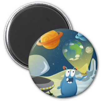 Departure for the Earth 2 Inch Round Magnet