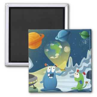 Departure for the Earth 2 Inch Square Magnet