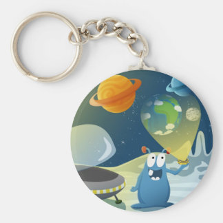 Departure for the Earth Basic Round Button Keychain