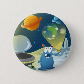Departure for the Earth Pinback Button