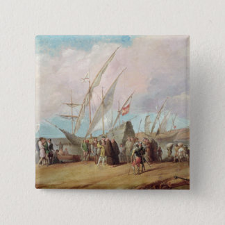 Departure of Christopher Columbus  from Palos Button