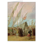 Departure of Christopher Columbus  from Palos Greeting Card