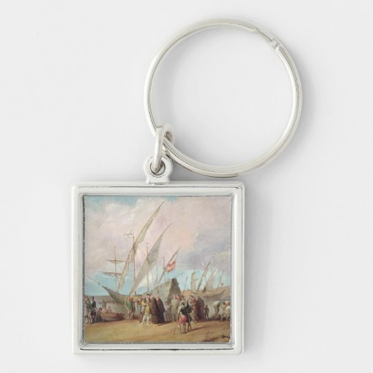 Departure of Christopher Columbus  from Palos Keychain