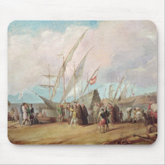 Departure of Christopher Columbus  from Palos Mouse Pad