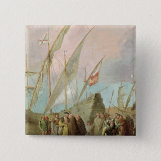 Departure of Christopher Columbus  from Palos Pinback Button