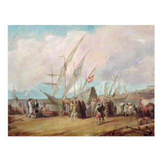Departure of Christopher Columbus  from Palos Postcard