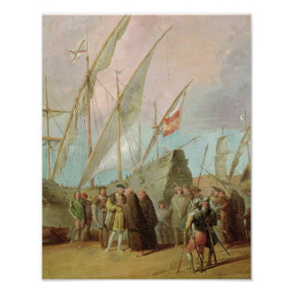 Departure of Christopher Columbus  from Palos Poster