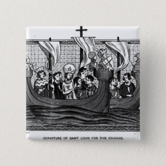 Departure of St. Louis for the Crusade Pinback Button