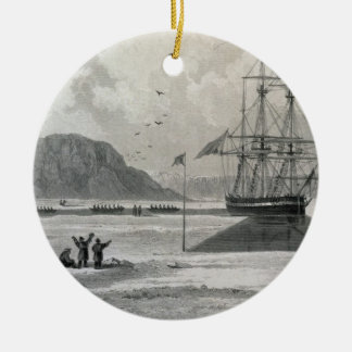 Departure of the boats from Hecla Cove, June 21, 1 Ceramic Ornament