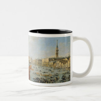 Departure of the 'Bucentaur' for the Lido Two-Tone Coffee Mug