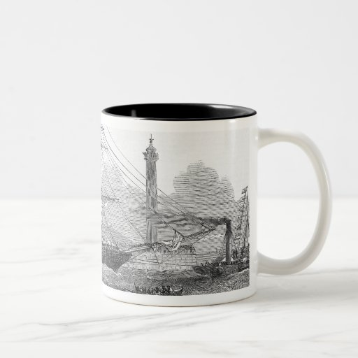 Departure of 'The Lizzie Webber' Two-Tone Coffee Mug