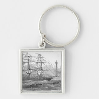 Departure of 'The Lizzie Webber' Silver-Colored Square Keychain