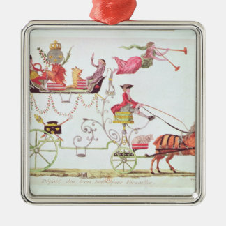 Departure of the Three Orders for Versailles Metal Ornament
