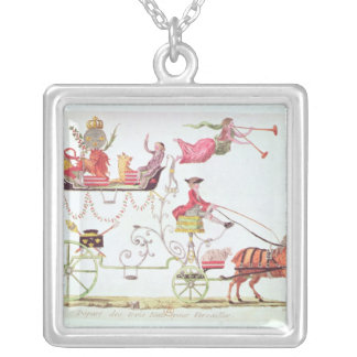 Departure of the Three Orders for Versailles Square Pendant Necklace