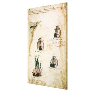 Departure of Vasco da Gama Canvas Print