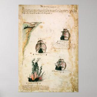 Departure of Vasco da Gama Poster