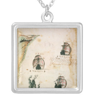 Departure of Vasco da Gama Silver Plated Necklace