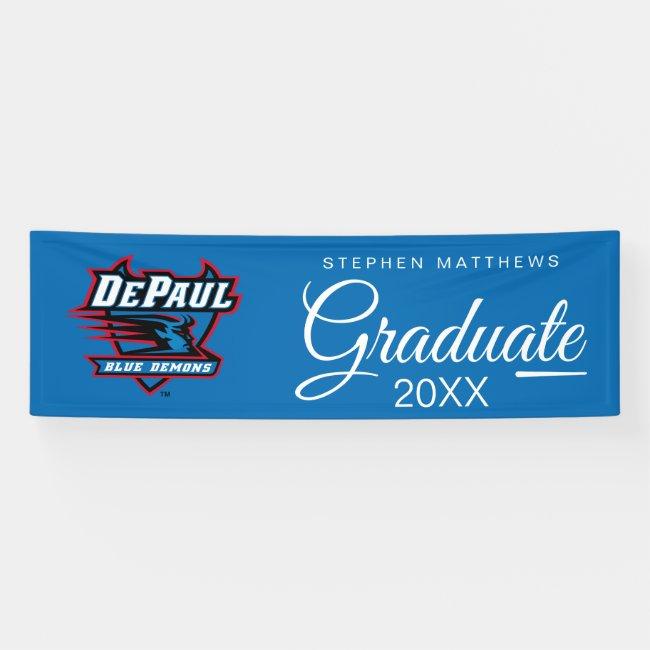 DePaul University Blue Demons Graduation Banner