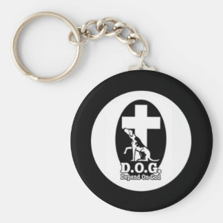 Depend on God Keychain