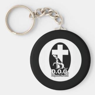 Depend on God Keychain
