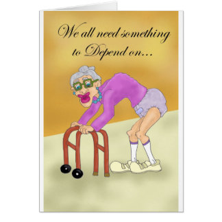 Depend on Me Greeting Card