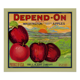 Depend On Washington Apples Poster