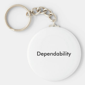 Dependability Keyring Basic Round Button Keychain