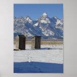 Dependencia de Wyoming Tetons de lujo Póster