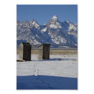 Dependencia de Wyoming Tetons de lujo Posters