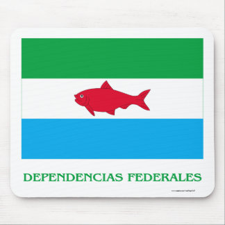 Dependencias Federales Flag with Name Mouse Pad
