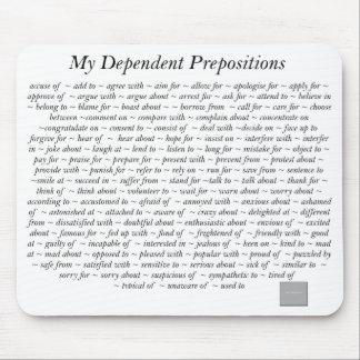 Dependent Prepositions Mousepad