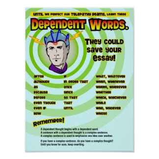 Dependent Words Poster
