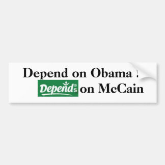Depends on Whom You Support Car Bumper Sticker