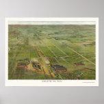 Depew, mapa panorámico de NY - 1898 Poster