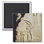 Depicting Amenophis IV, Nefertiti and Daughter 2 Inch Square Magnet