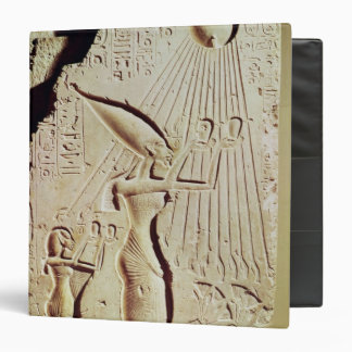 Depicting Amenophis IV, Nefertiti and Daughter 3 Ring Binders