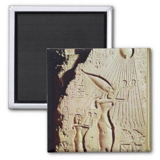 Depicting Amenophis IV, Nefertiti and Daughter Magnet